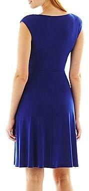 JCPenney Alyx Ruffled Faux-Wrap Dress