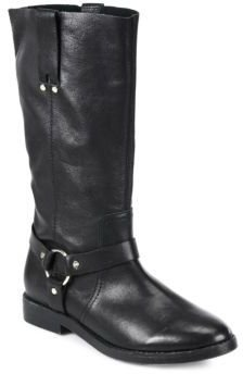 Joie Babson Leather Knee-High Moto Boots