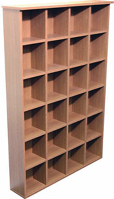 Pigeon Hole CD and DVD Media Storage - Oak Effect