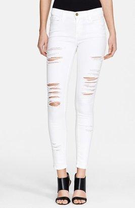 Women's Frame 'Le Color Rip' Skinny Jeans $199 thestylecure.com