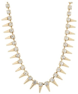 GUESS Crystal Spikes Necklace 16 (Gold) - Jewelry