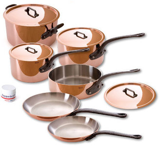 Mauviel M150C Copper Stainless 10Pc Set