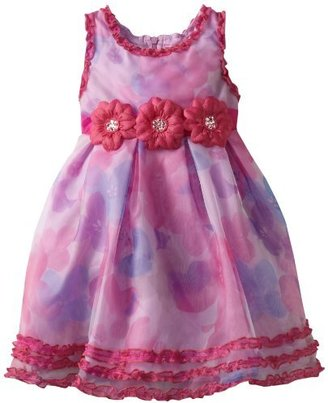 Nannette Girls Girls 2-6X Floral Printed Dress With Ruffles