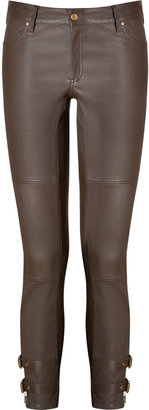 Rachel Zoe Leather Suzie Pants in Saddle