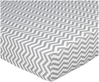 American Baby Company 100% Cotton Flannel Fitted Crib Sheet - Grey ZigZag