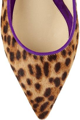 Brian Atwood Degas leopard-print calf hair pumps