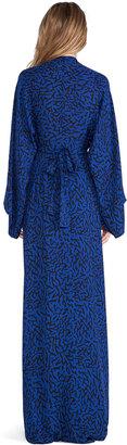 Issa Poppy Long Sleeve Wrap Maxi Dress