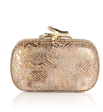 Diane von Furstenberg Lytton printed leather clutch