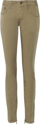 Burberry Stretch-cotton skinny pants