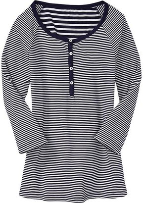 Old Navy Women's Mixed-Stripe Jersey Henleys