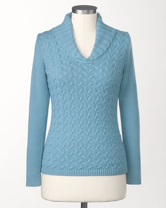 Coldwater Creek Braided cable pullover