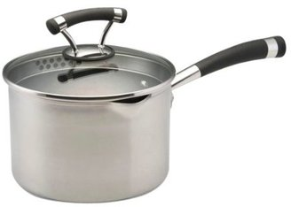 Circulon Contempo Stainless Steel Nonstick Straining Saucepan, 3-Quart