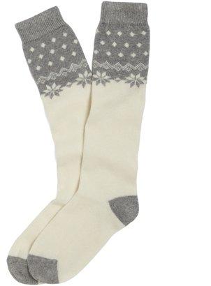 Brooks Brothers Snowflake Knee-High Socks