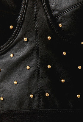 Forever 21 Studded Faux Leather Bustier Top