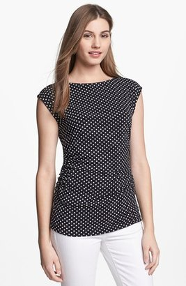 Vince Camuto Ruched Boatneck Top