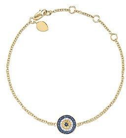 Meira T 14 Kt. Yellow Gold/Diamond Evil Eye Bracelet