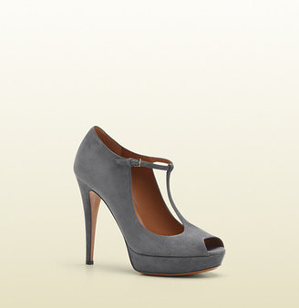 Gucci Betty T-Strap Open-Toe High Heel Platform Pump