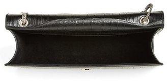 Saint Laurent 'Medium Betty' Croc Embossed Leather Shoulder Bag