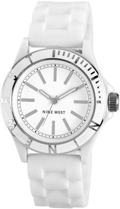 Nine West Watch, Women's Silicone Strap 39mm NW-1365WTWT