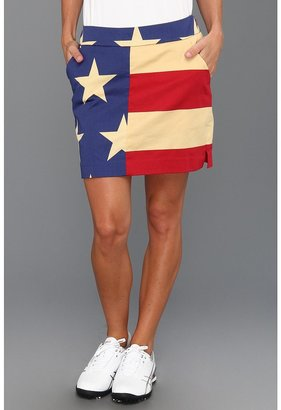 Old Glory Loudmouth Golf Skort (Red/White/Blue) - Apparel