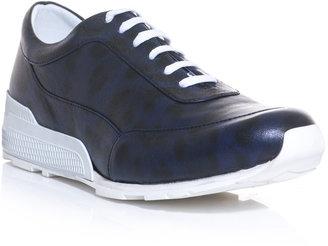 Jil Sander Leopard-print leather trainers
