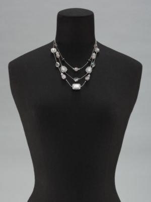 New York & Co. Short Triple Tier Bubble Beaded Necklace