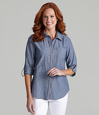 Westbound Roll-Tab Chambray Shirt
