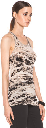 Enza Costa Costae Dyed Racer Tank in Black