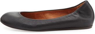 Lanvin Classic Leather Ballet Flat, Black
