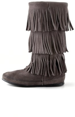 Minnetonka 3 Layer Fringe Boots