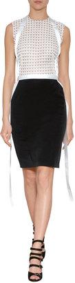 Marios Schwab Short Dress with Lace Bodice