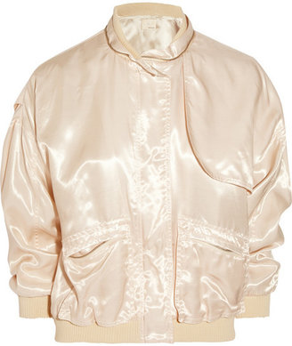 Band Of Outsiders Satin-twill bomber jacket
