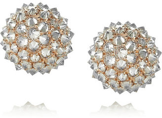 Anita Ko Spike Ball 18-karat rose gold diamond stud earrings