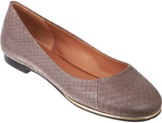 Givenchy Snakeskin Round Toe Ballet Flat