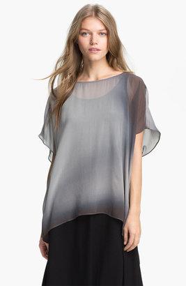Eileen Fisher 'Watercolor' Sheer Silk Tunic