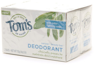 Tom's of Maine Natural Deodorant Beauty Bar Soap with Odor Fighting Sage