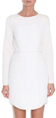 Tibi Katrin Quilting Paneled Dress
