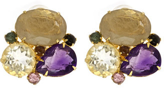 Bounkit Multi Stone Cluster Earrings
