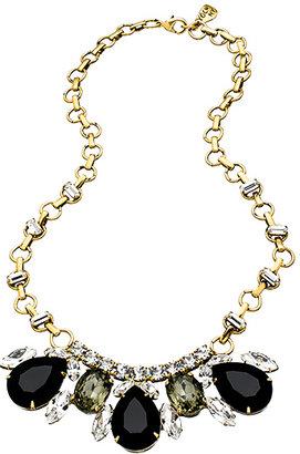 Yochi Gold and Multi Stone Bib Necklace