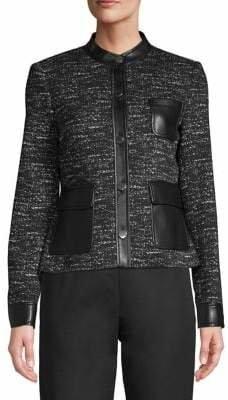 Calvin Klein 5-Button Faux-Leather Jacket