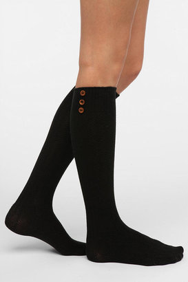 Urban Outfitters Buttoned-Up Knee-High Sock