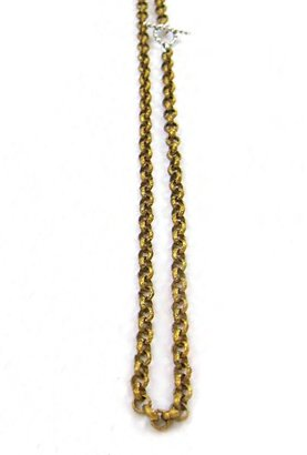 Natalie B Jewelry Vintage Layering Chain Necklace in Brass