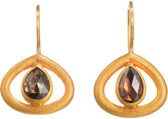Mallary Marks Brown Diamond Kit Kat Earrings