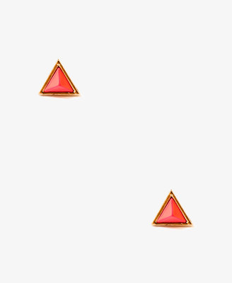 Forever 21 Faceted Triangle Studs