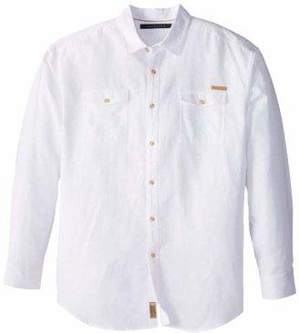 Sean John Men's Big-Tall Long Sleeve Solid Linen Shirt