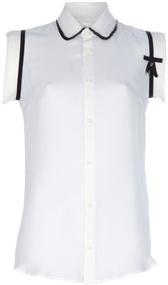 DSquared Dsquared2 Sleeveless georgette shirt