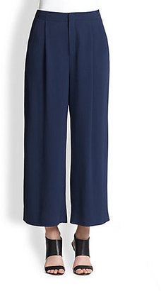 Elizabeth and James Trenton Cropped Wide-Leg Pants