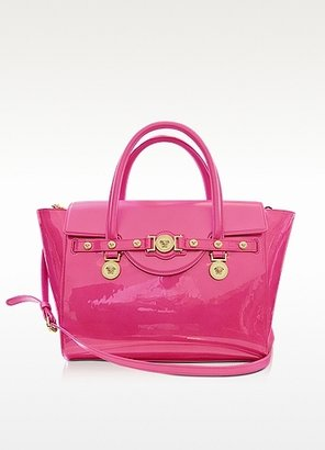 Versace Large Signature Patent Leather Tote