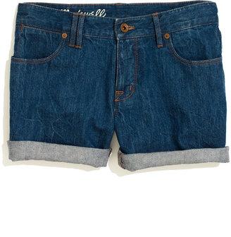 Madewell Denim Midi Shorts in Bluestone Wash