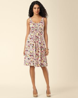 Soma Intimates Wrapped Waist Short Dress Folklore Floral